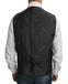Gray Wool STAFF Checkered Stretch Vest