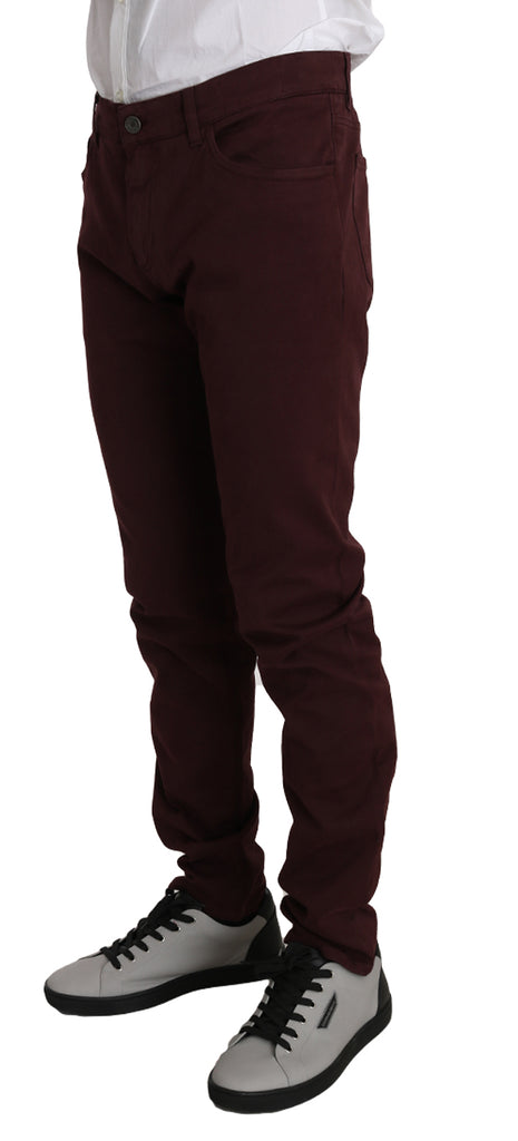 Bordeaux Cotton 14STRETCH Jeans Pants