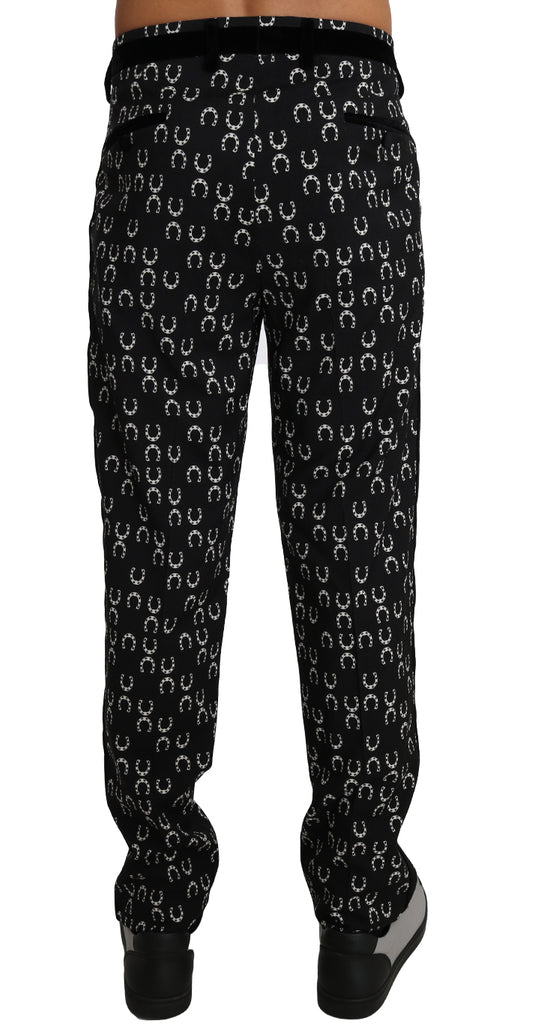Black Wool SICILIAN WESTERN Trousers