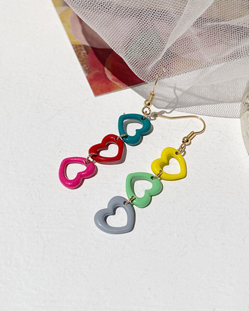 Chained Heart Earring