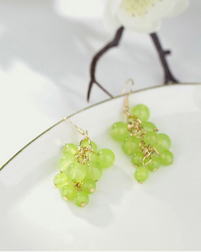 Green Grapes Earring