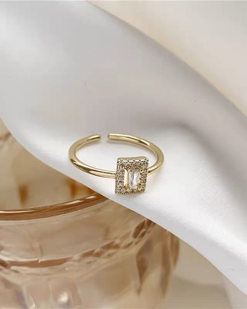 Square Crystal Ring