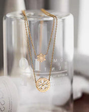 Load image into Gallery viewer, Set of Two Snowflake Necklace
