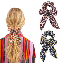 Load image into Gallery viewer, Floral Black Hair Scarf