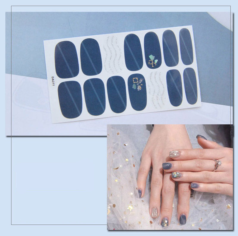 Gel Nail Stickers - Navy Based