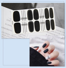 Load image into Gallery viewer, Gel Nail Stickers - Black Based