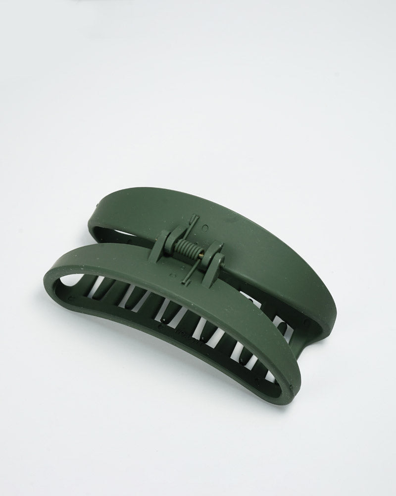 Matte Olive Green Hair Claw Clip