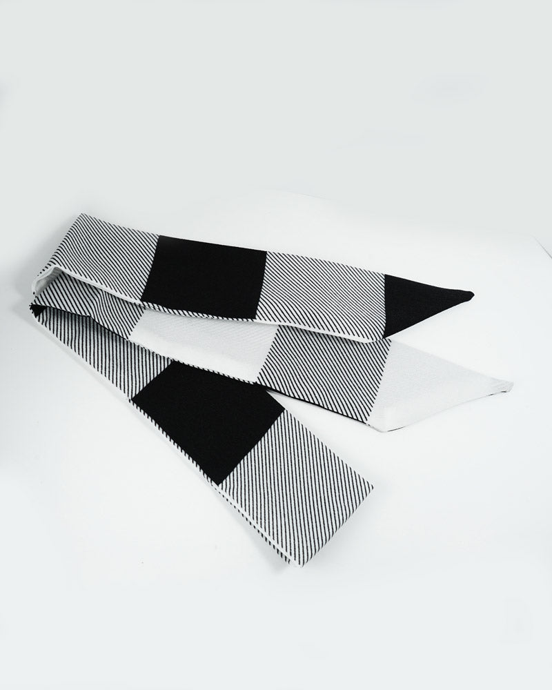 Black & White Stripe Hair Scarf