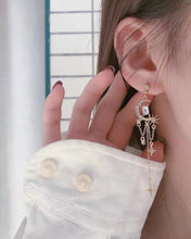 Load image into Gallery viewer, Stars and Moon Tassel Post Earring