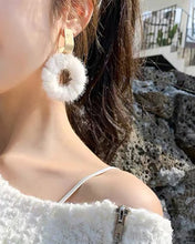 Load image into Gallery viewer, Fluffy Hoop Earring