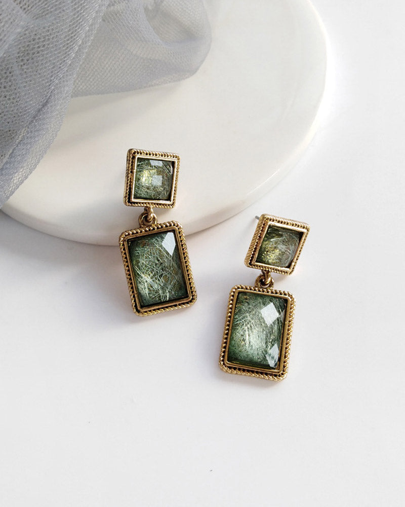 Retro Square Earring