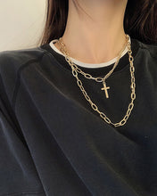 Load image into Gallery viewer, Multi-Layer Cross Necklace