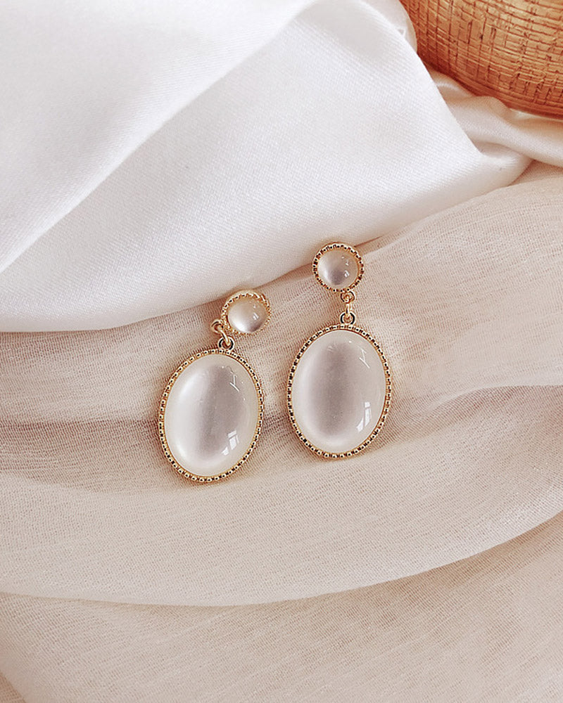 Gold Plated Teardrop Classic Earrings