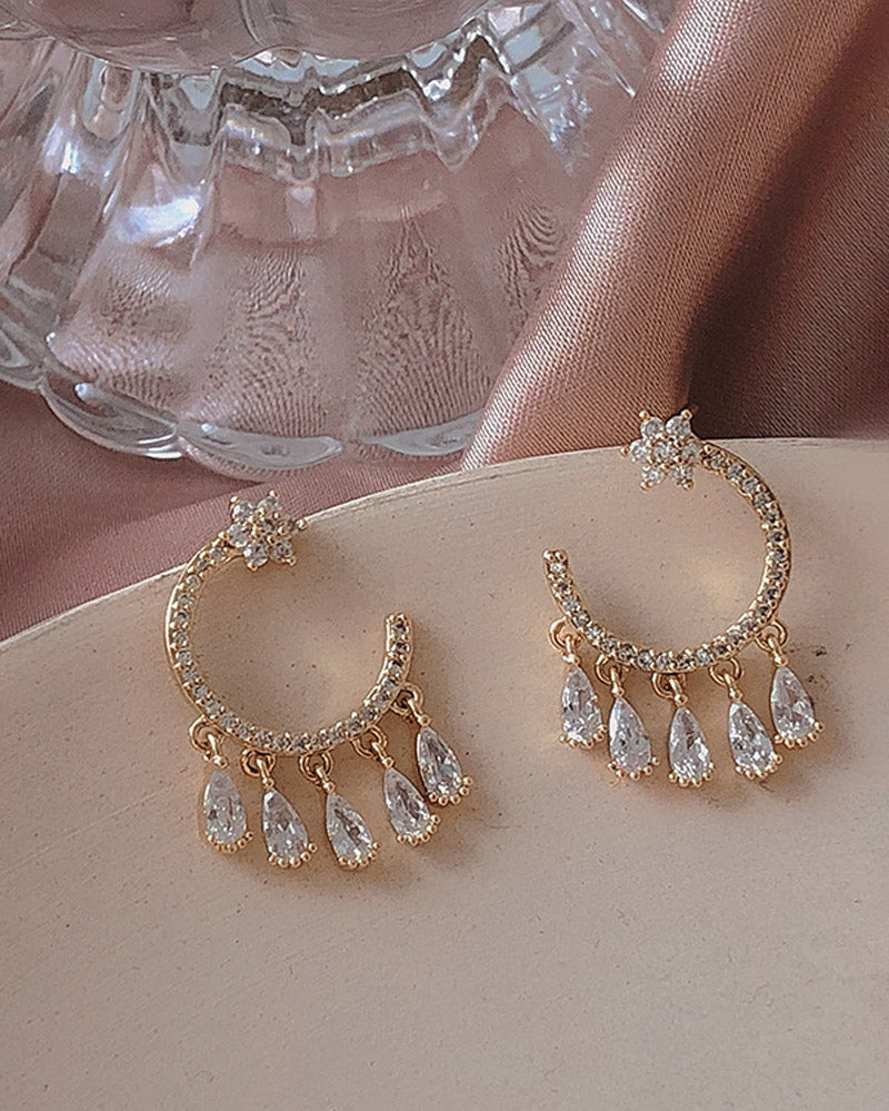Small Water Drop Tassel Earring