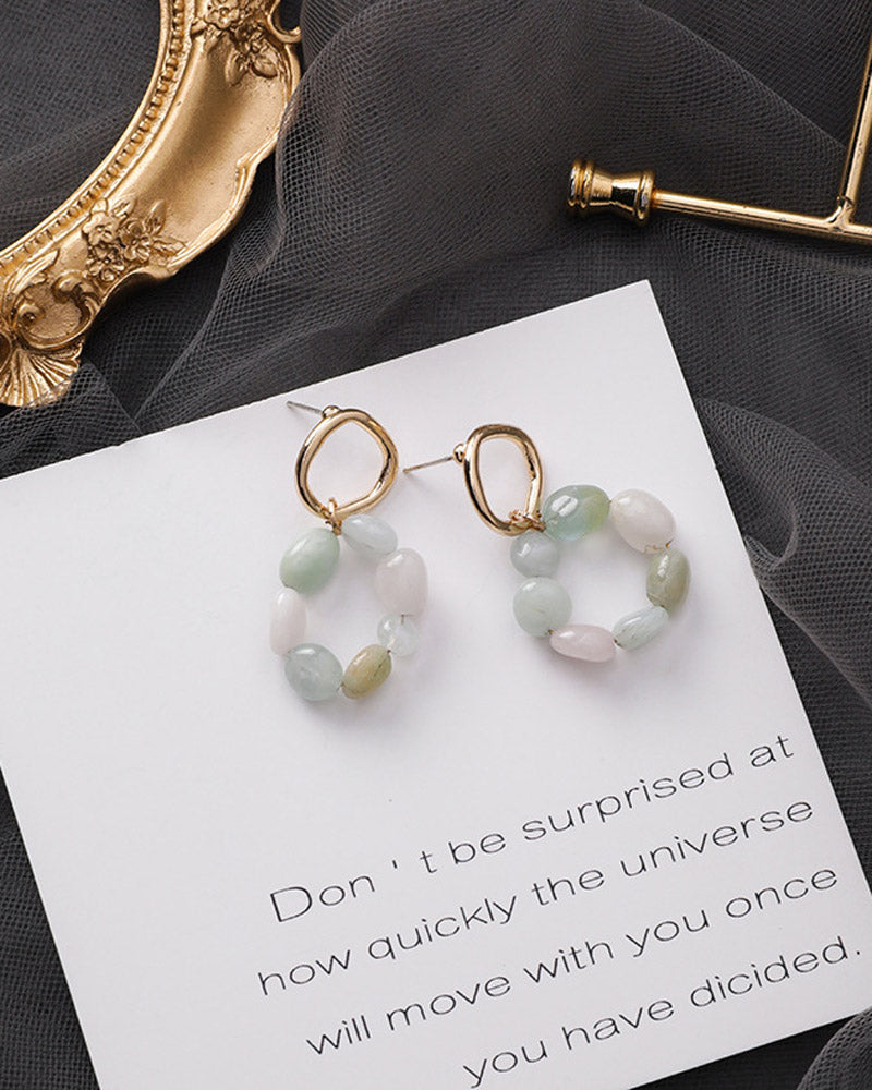 Small Stone Earring