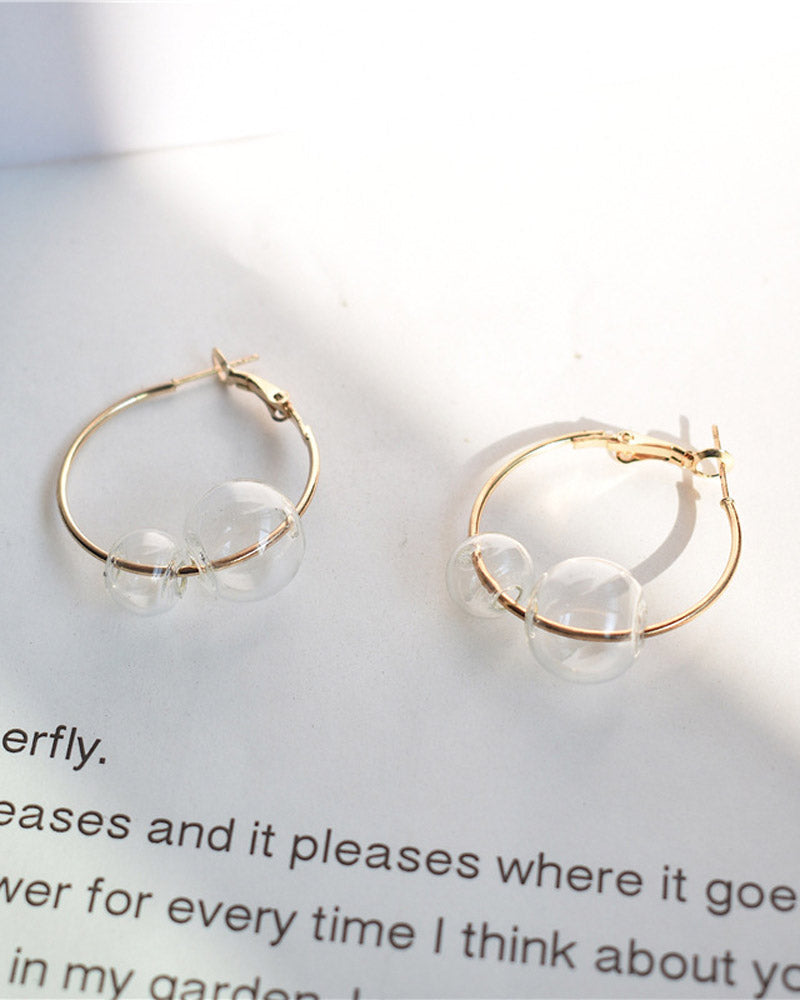 Clear Bubble Hoop Earring