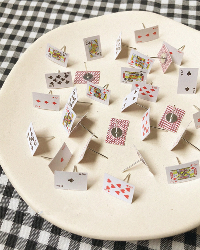 Playing Card Post Earring