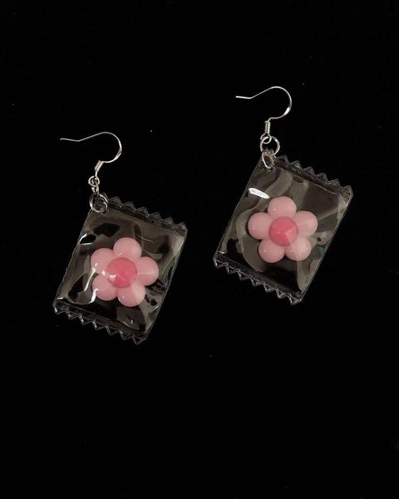 Clear Candy Packaging Earring
