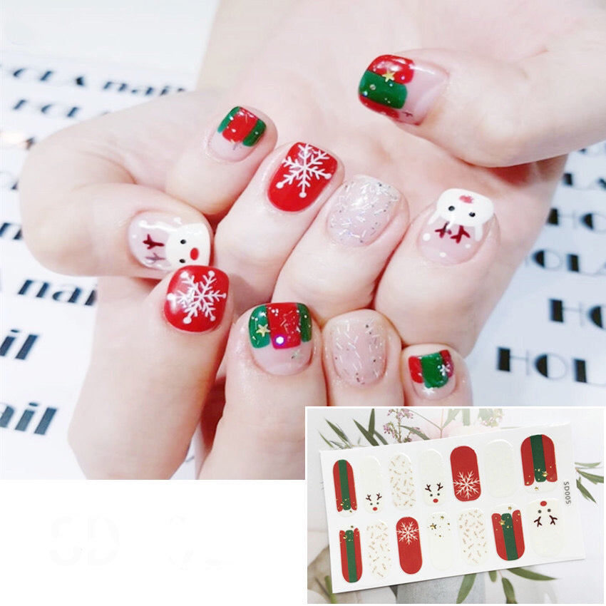 Gel Nail Polish Stickers - Christmas Design