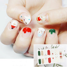 Load image into Gallery viewer, Gel Nail Polish Stickers - Cute Cartoon Face
