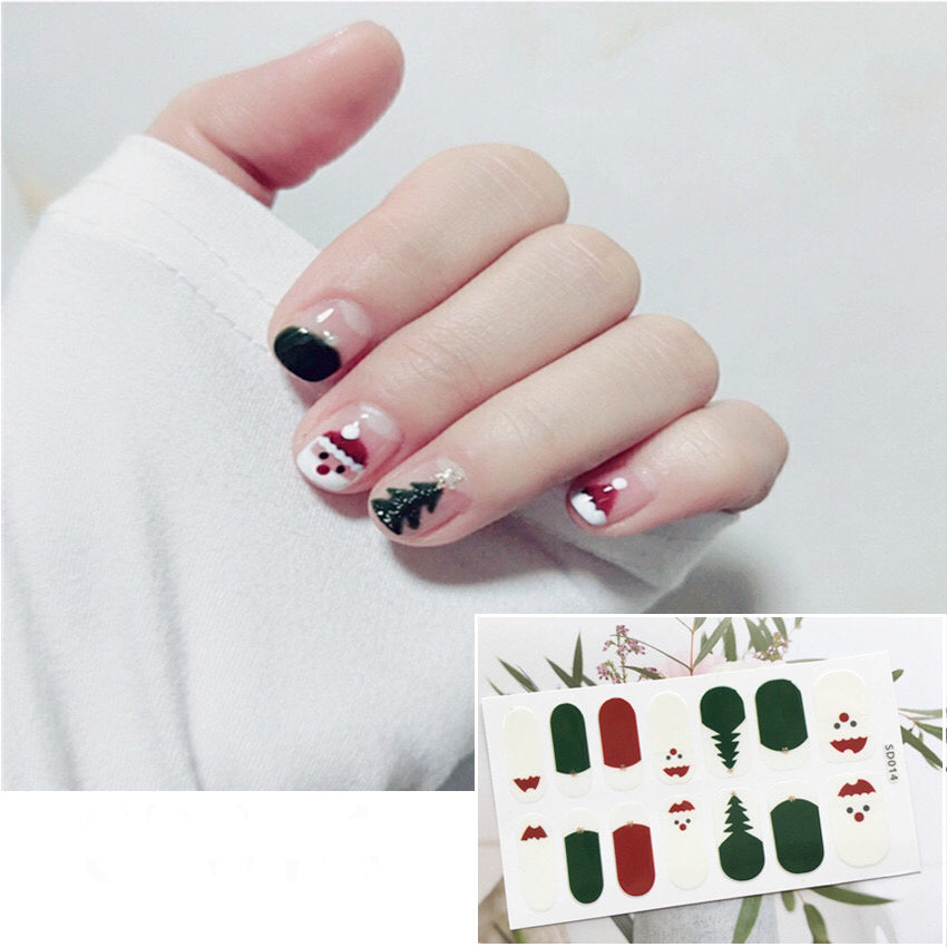 Gel Nail Polish Stickers - Cute Mini Tree Print