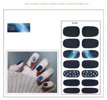 Load image into Gallery viewer, Gel Nail Polish Stickers - Black Shades