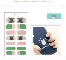 Load image into Gallery viewer, Gel Nail Polish Stickers - Cat Print