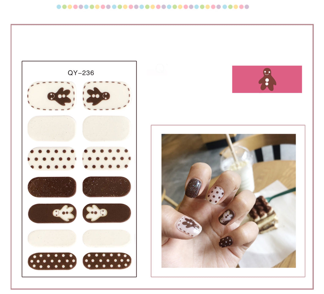 Gel Nail Polish Stickers- Variant Printed