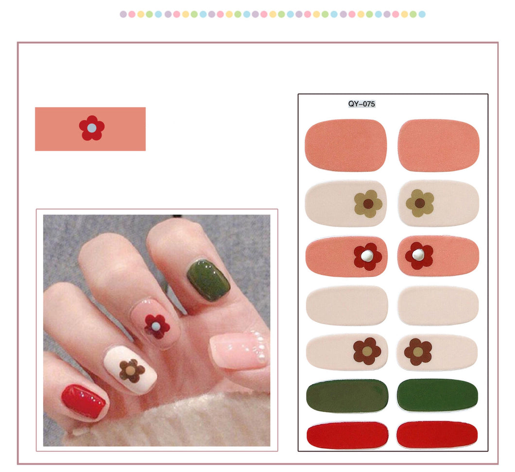 Gel Nail Polish Stickers-Solid Color Adhesive