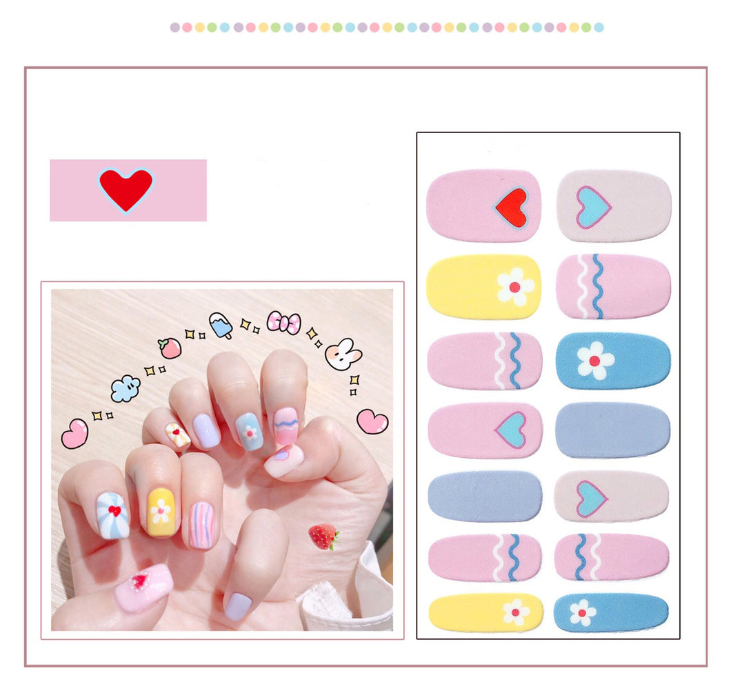 Gel Nail Polish Stickers - Love Printed