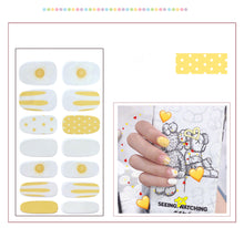 Load image into Gallery viewer, Gel Nail Polish Stickers- Yellow Printed