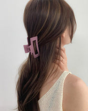 Load image into Gallery viewer, Matte Dark Pink Hair Claw Clip