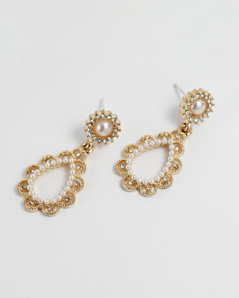 Pearl Drop Post Earring