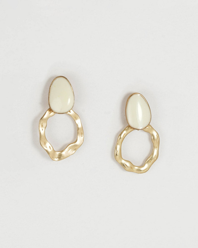 Oval Drip Post Earring