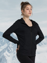 Yvette Sports Zip-Up Hoodie 145018A06