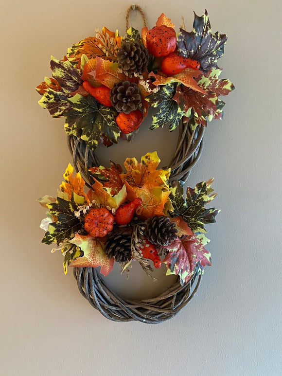 Autumn Double Wreath Small