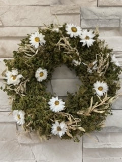 Dried Daisy Wreath