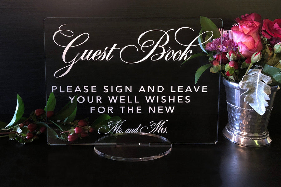 Please Sign Our Guest Book Acrylic Sign, Guestbook Sign, Wedding Guestbook Sign, Acrylic Wedding Sign