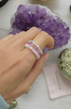 Load and play video in Gallery viewer, Sparkle Ring - Pink Morganite