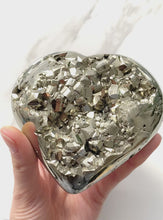 Load and play video in Gallery viewer, Pyrite Heart (10cm)