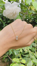 Load and play video in Gallery viewer, Aquamarine Delicate Necklace