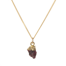 Load image into Gallery viewer, Decadorn Gold Birthstone Pendant - January Garnet