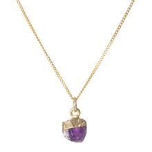 Load image into Gallery viewer, Decadorn Gold Birthstone Pendant - February Amethyst
