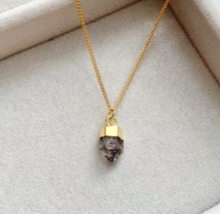 Load image into Gallery viewer, Decadorn Birthstone Pendant - April Herkimer Diamond