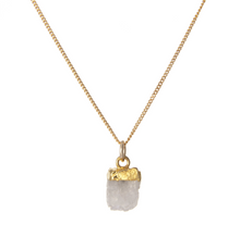 Load image into Gallery viewer, Decadorn Gold Birthstone Necklace - June Moonstone