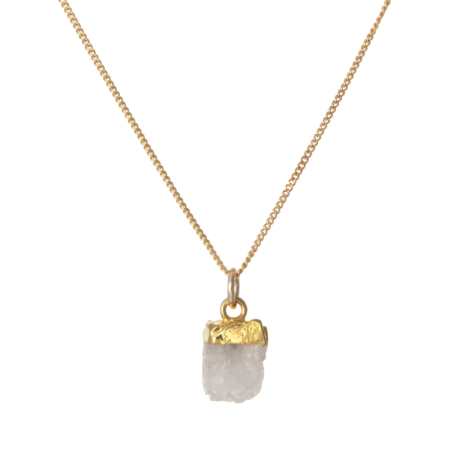 Decadorn Gold Birthstone Necklace - June Moonstone