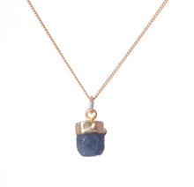 Load image into Gallery viewer, Decadorn Gold Birthstone Necklace - September Saphire