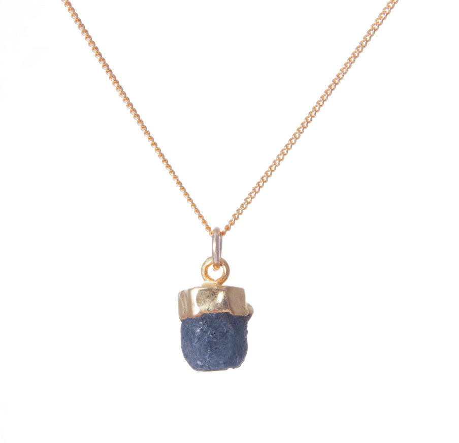 Decadorn Gold Birthstone Necklace - September Saphire