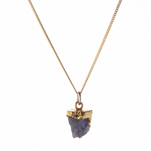 Load image into Gallery viewer, Decadorn Gold Birthstone Pendant - December Tanzanite