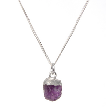 Load image into Gallery viewer, Decadorn Silver Birthstone Pendant - February Amethyst
